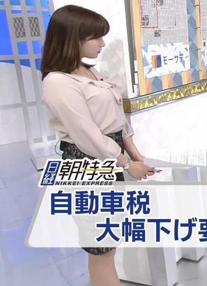 角谷暁子アナ エロい身体つきがキャプ・エロ画像4