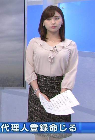 角谷暁子アナ エロい身体つきがキャプ・エロ画像7