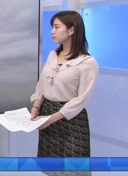 角谷暁子アナ エロい身体つきがキャプ・エロ画像8
