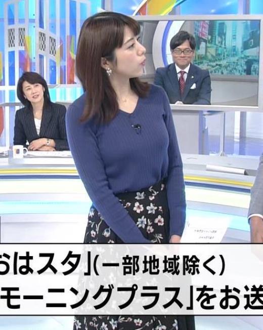 森山るりアナ おっぱい大きそうなニット乳キャプ画像(エロ・アイコラ画像)