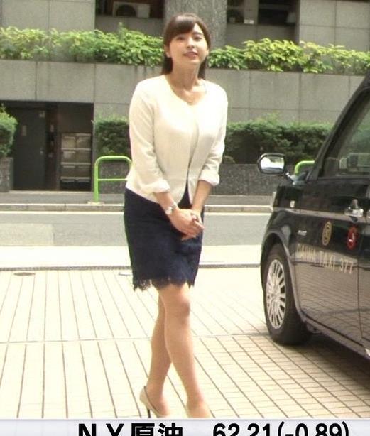 角谷暁子アナ 車から降りるときに太もも大胆露出!キャプ・エロ画像4