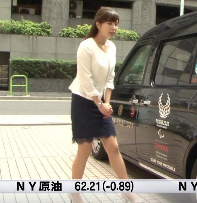 角谷暁子アナ 車から降りるときに太もも大胆露出!キャプ・エロ画像5