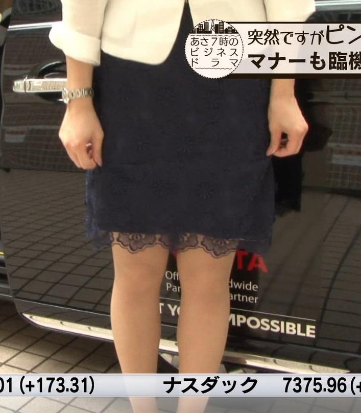角谷暁子アナ 車から降りるときに太もも大胆露出!キャプ・エロ画像6