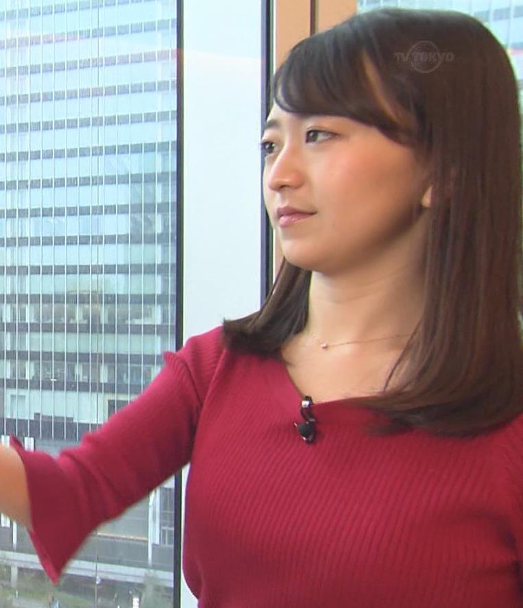 片渕茜アナ ニット乳キャプ・エロ画像3