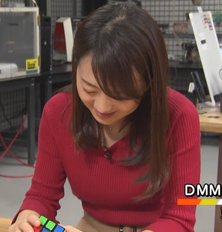 片渕茜アナ ニット乳キャプ・エロ画像5