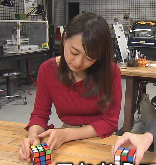 片渕茜アナ ニット乳キャプ・エロ画像6