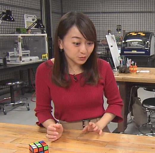 片渕茜アナ ニット乳キャプ・エロ画像7