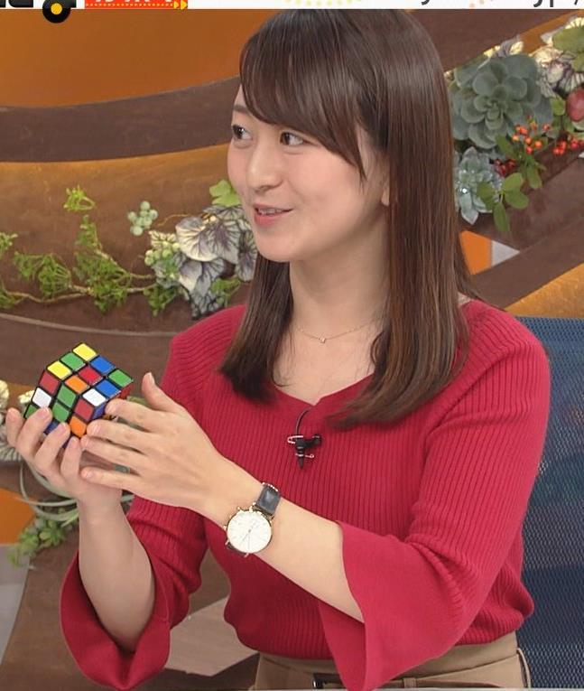 片渕茜アナ ニット乳キャプ・エロ画像8