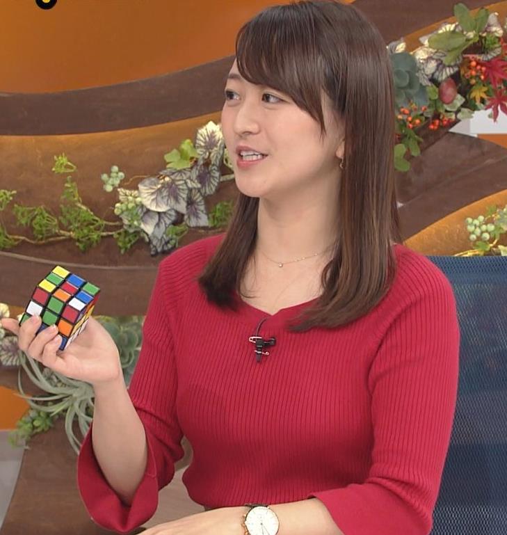 片渕茜アナ ニット乳キャプ・エロ画像9