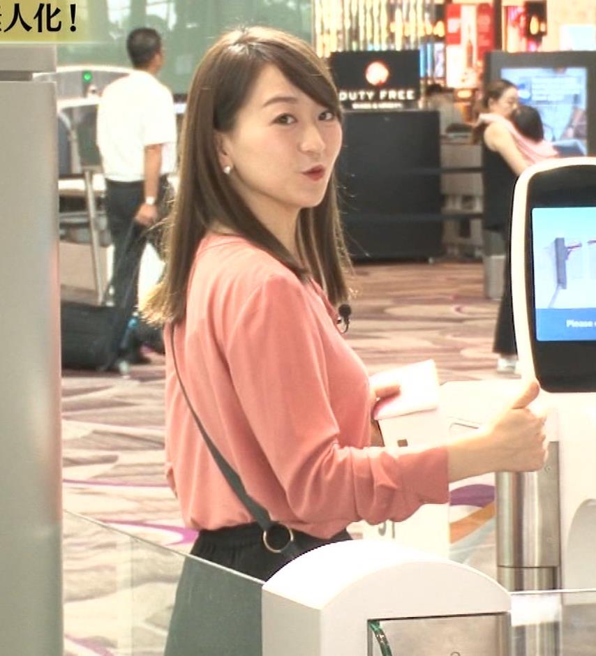 片渕茜アナ テレ東巨乳アナの横乳キャプ・エロ画像