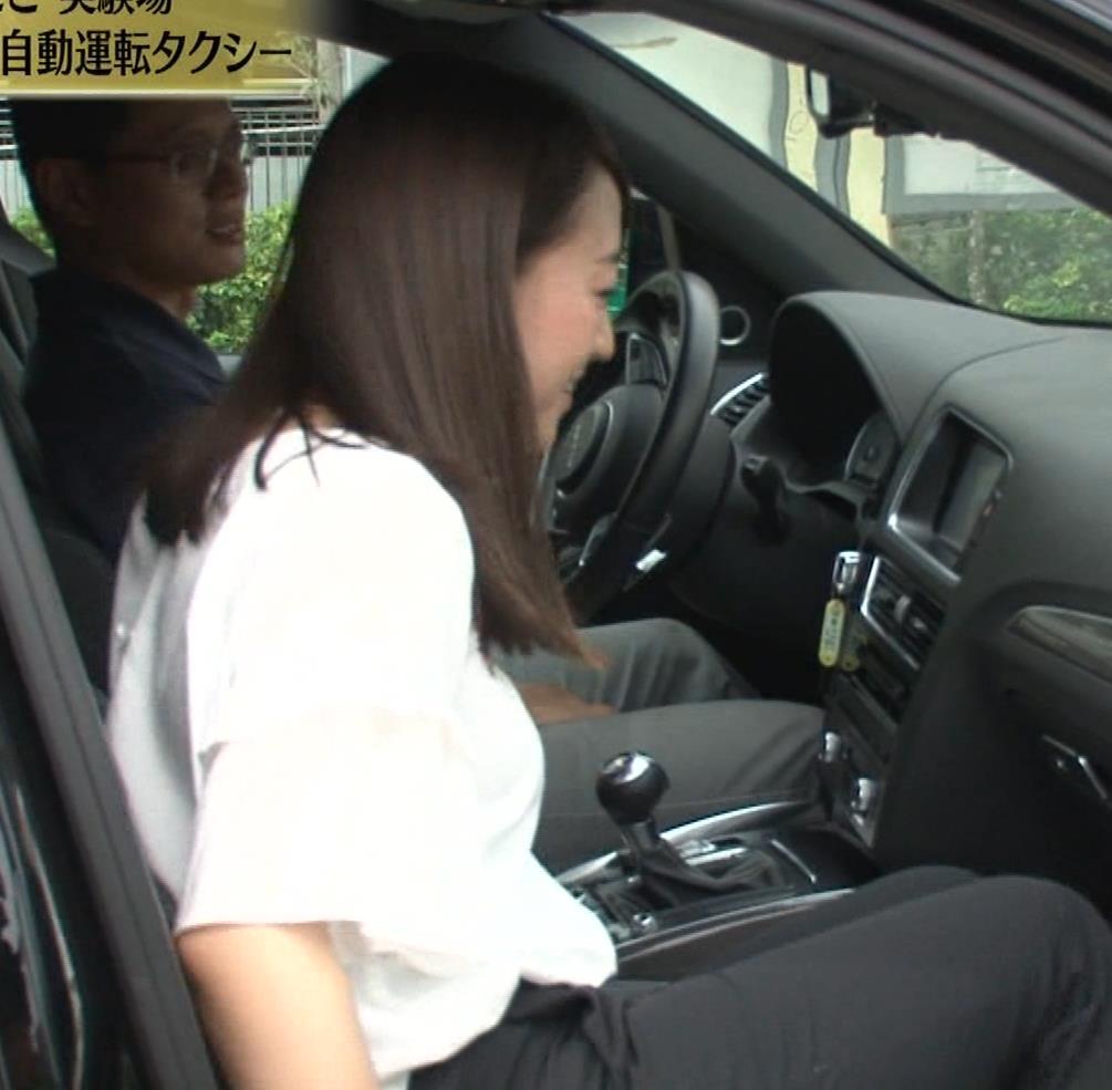 片渕茜アナ テレ東巨乳アナの横乳キャプ・エロ画像13