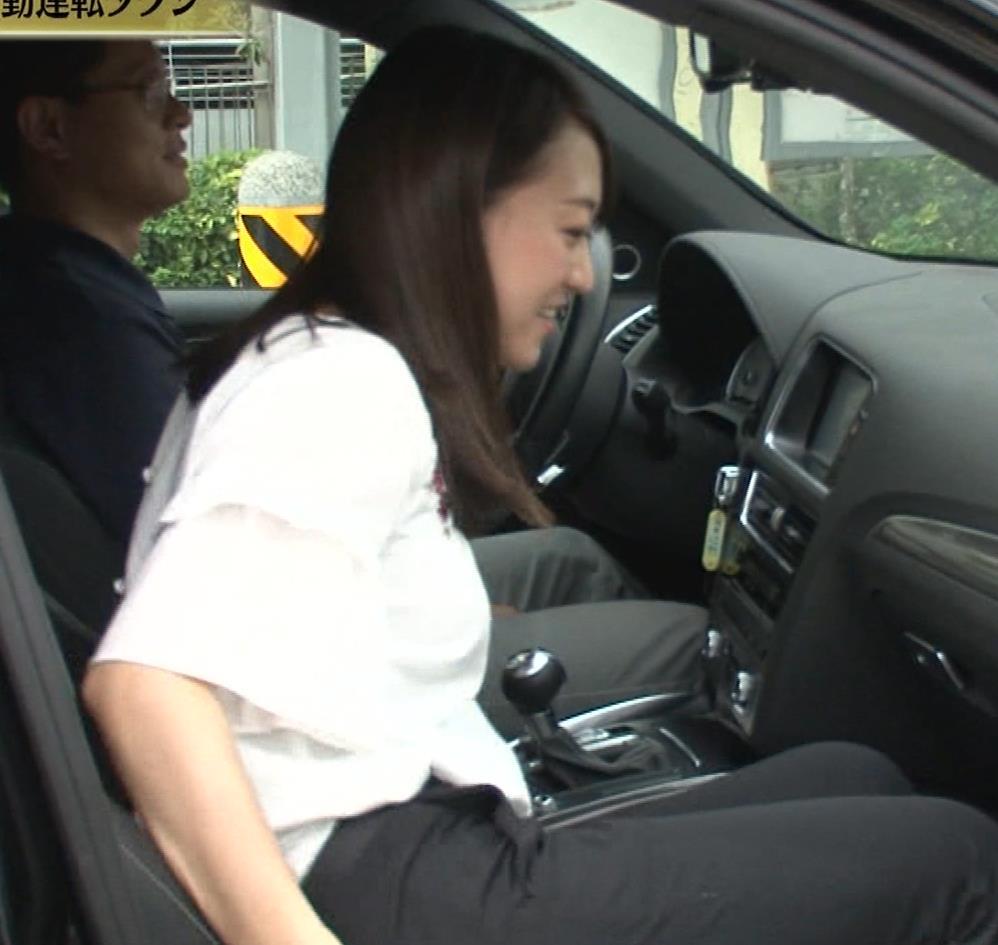 片渕茜アナ テレ東巨乳アナの横乳キャプ・エロ画像14