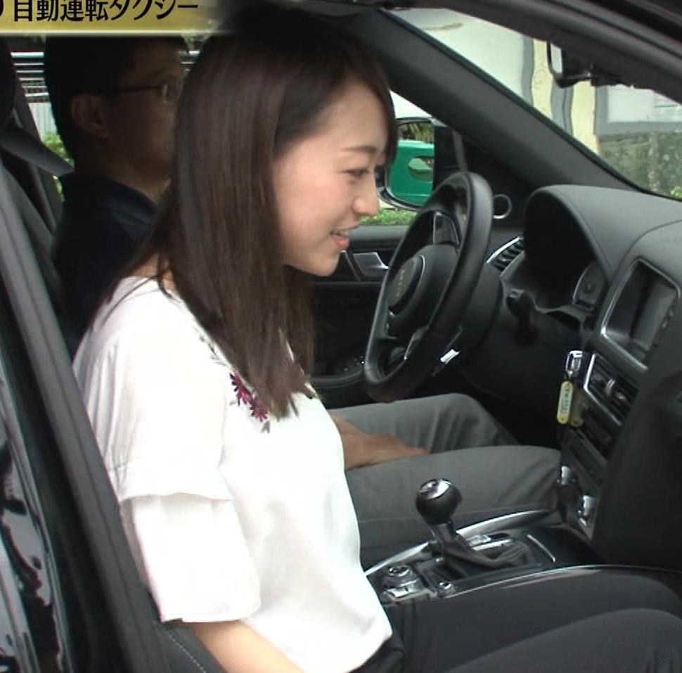 片渕茜アナ テレ東巨乳アナの横乳キャプ・エロ画像15