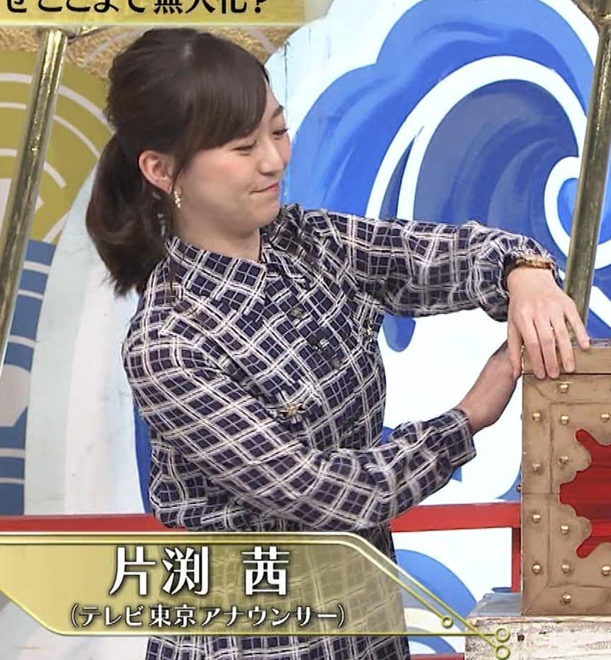 片渕茜アナ テレ東巨乳アナの横乳キャプ・エロ画像16