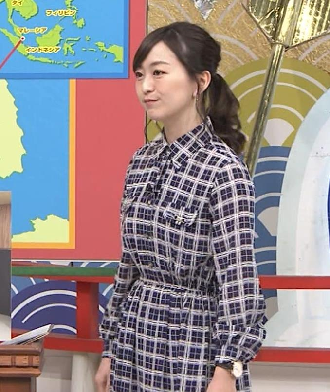 片渕茜アナ テレ東巨乳アナの横乳キャプ・エロ画像17