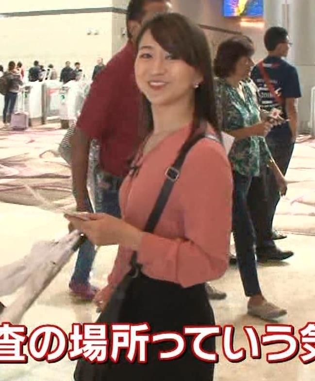 片渕茜アナ テレ東巨乳アナの横乳キャプ・エロ画像10