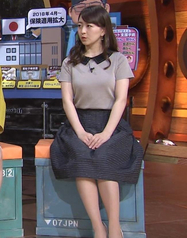 片渕茜アナ 巨乳だとよくわかる服キャプ・エロ画像11