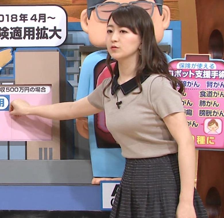 片渕茜アナ 巨乳だとよくわかる服キャプ・エロ画像5