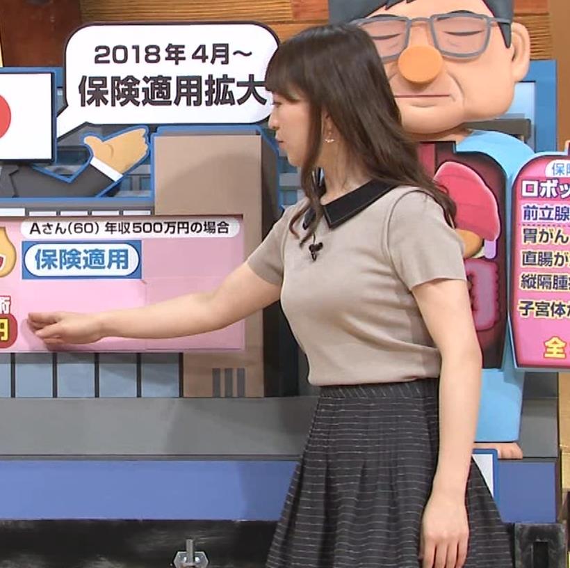 片渕茜アナ 巨乳だとよくわかる服キャプ・エロ画像6