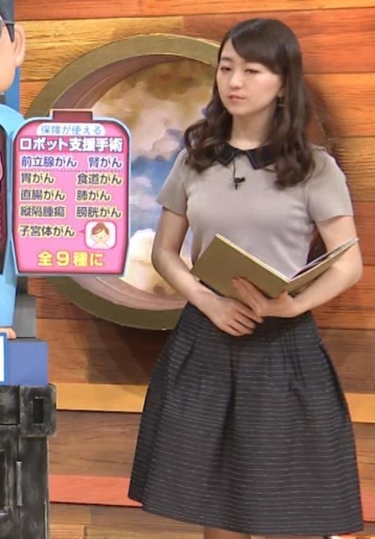 片渕茜アナ 巨乳だとよくわかる服キャプ・エロ画像8