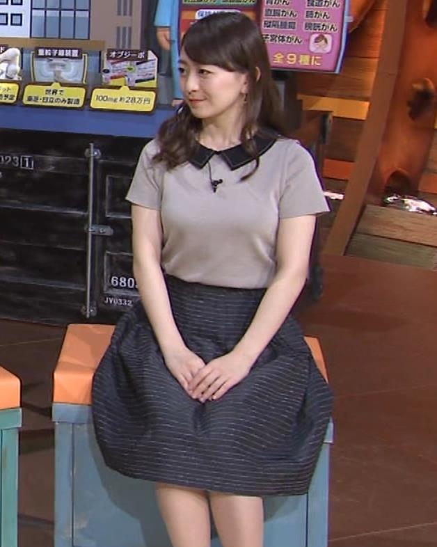 片渕茜アナ 巨乳だとよくわかる服キャプ・エロ画像9