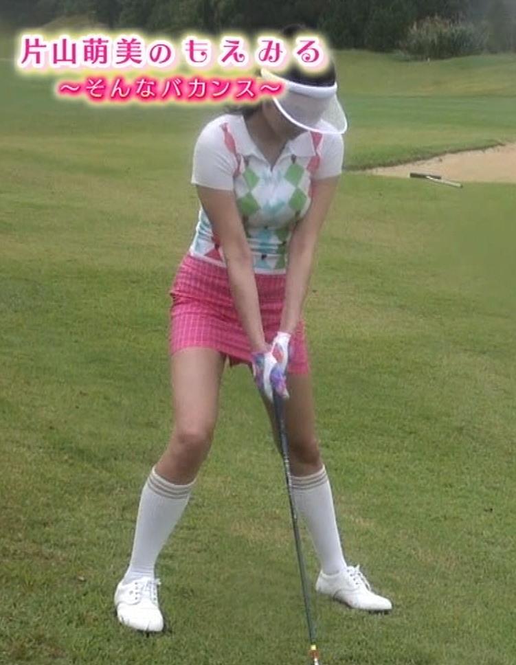 ゴルフするにはエロ過ぎるゴルフウェアキャプ・エロ画像8