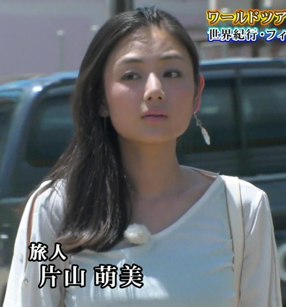 片山萌美 終始エロいBSフジの旅番組キャプ・エロ画像
