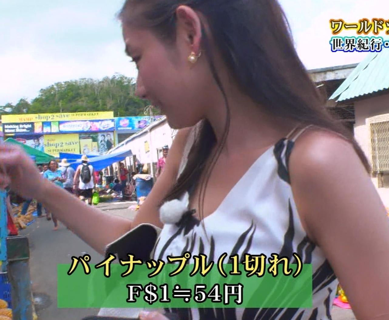 片山萌美 終始エロいBSフジの旅番組キャプ・エロ画像8