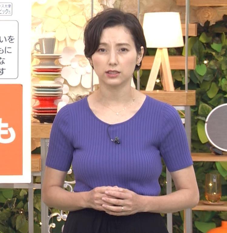 加藤シルビア 朝から過激なニット巨乳キャプ・エロ画像4