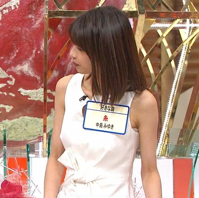 加藤綾子アナ またノースリーブのワキチラがエロいキャプ・エロ画像5