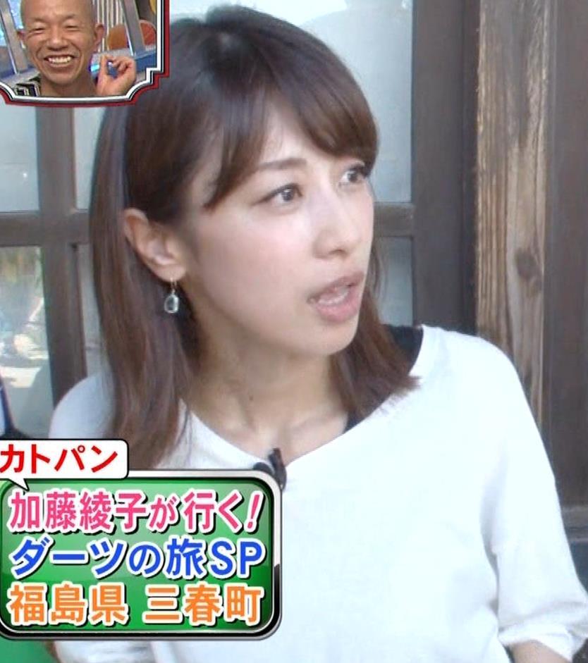 加藤綾子アナ 吹き矢で疑似フェラキャプ・エロ画像3