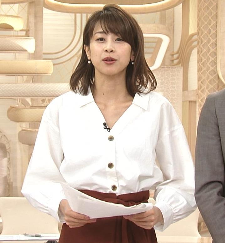 加藤綾子 お辞儀で胸元チラリキャプ・エロ画像5