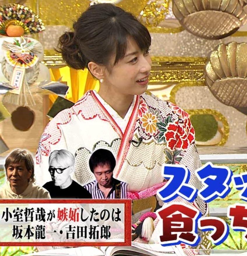 加藤綾子 振り袖姿キャプ・エロ画像11