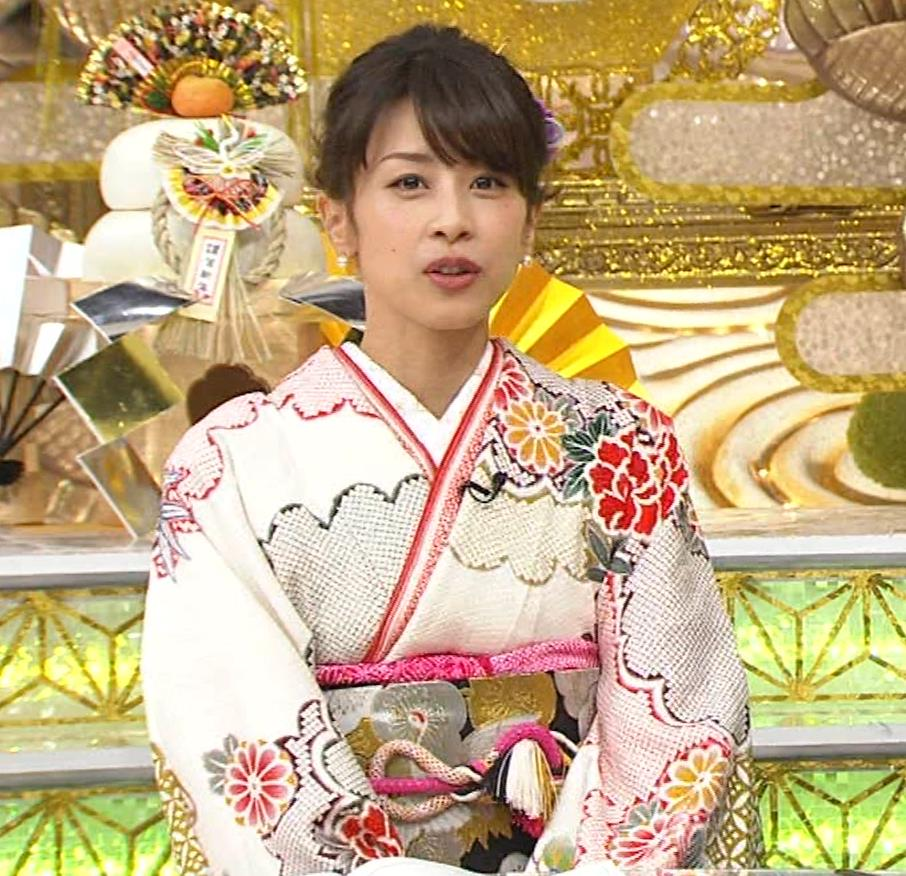 加藤綾子 振り袖姿キャプ・エロ画像12