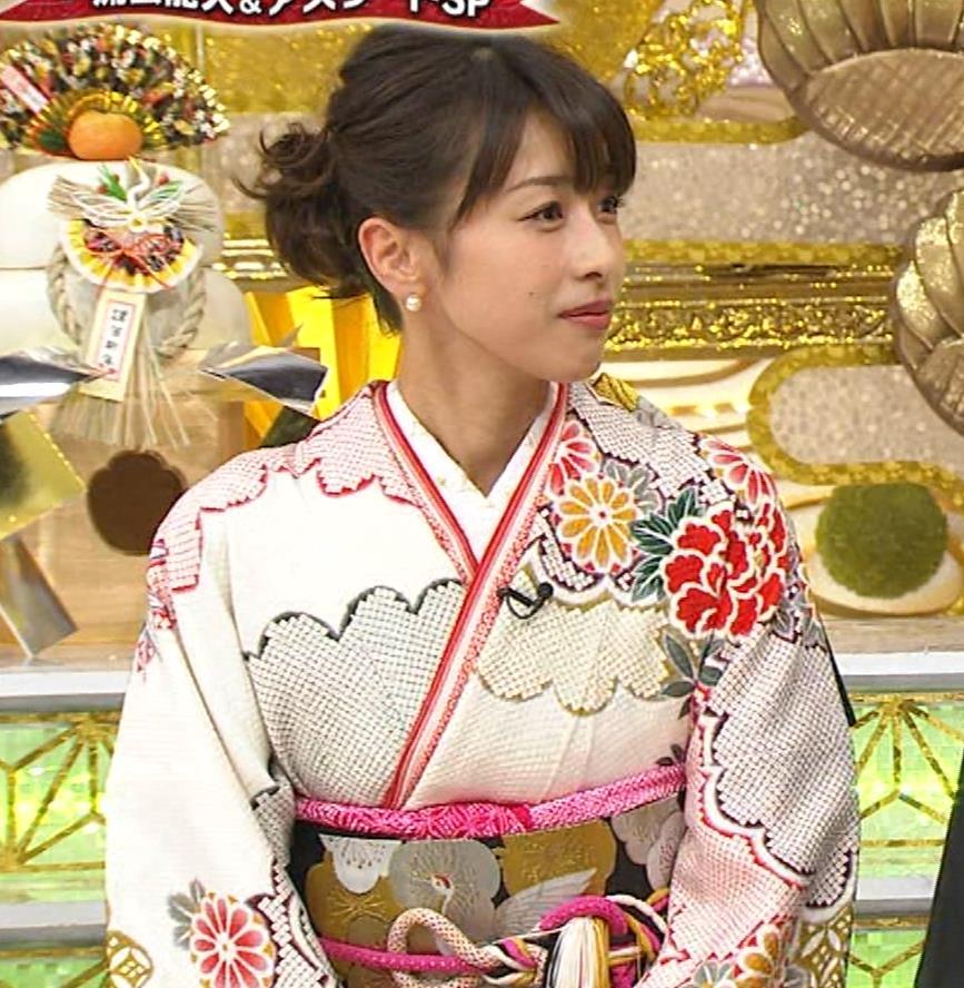 加藤綾子 振り袖姿キャプ・エロ画像3