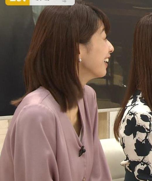 加藤綾子 胸元の服の隙間キャプ画像(エロ・アイコラ画像)