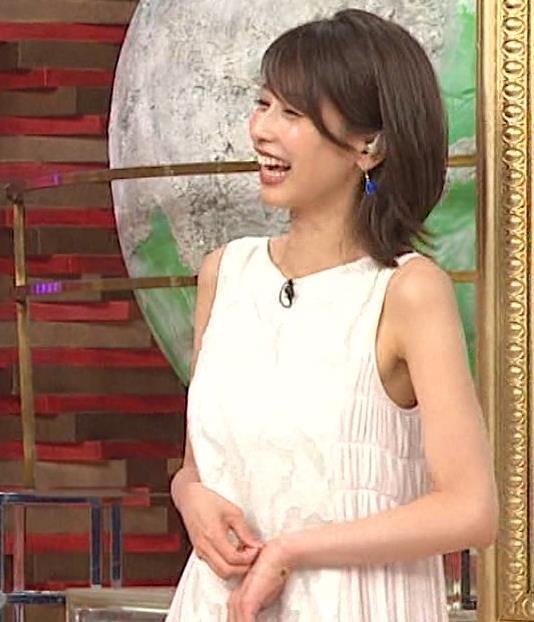 加藤綾子 ノースリーブのエロいワキキャプ・エロ画像6