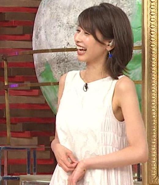 加藤綾子 ノースリーブのエロいワキキャプ画像(エロ・アイコラ画像)