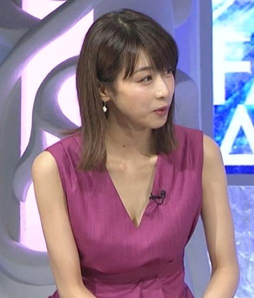 加藤綾子 胸元が大きく開いてエロいキャプ・エロ画像10