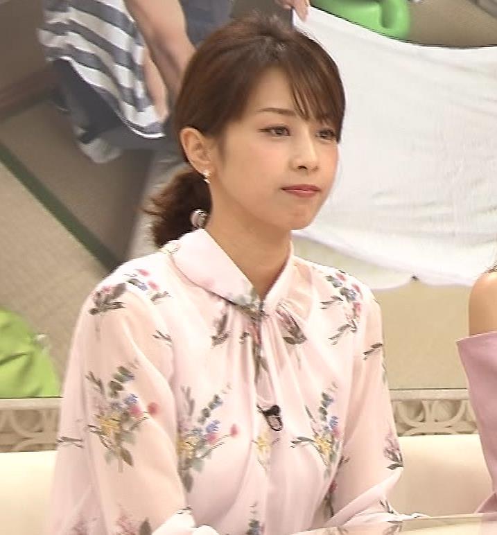 加藤綾子 透け透けブラウスキャプ・エロ画像9