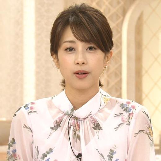 加藤綾子 透け透けブラウスキャプ画像(エロ・アイコラ画像)