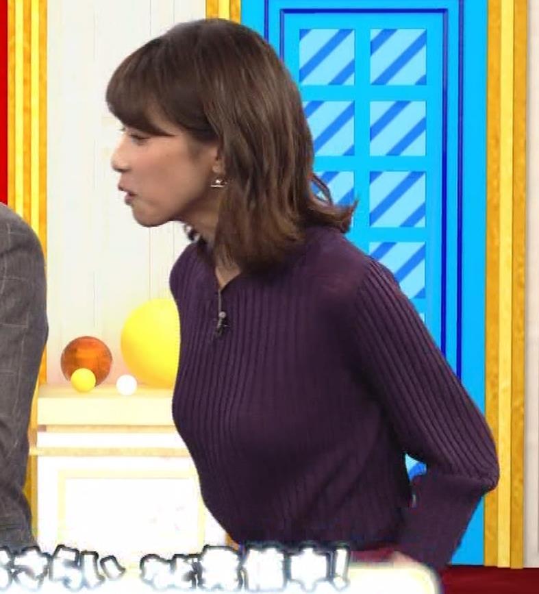 加藤綾子 小走り乳揺れGIF動画キャプ・エロ画像9