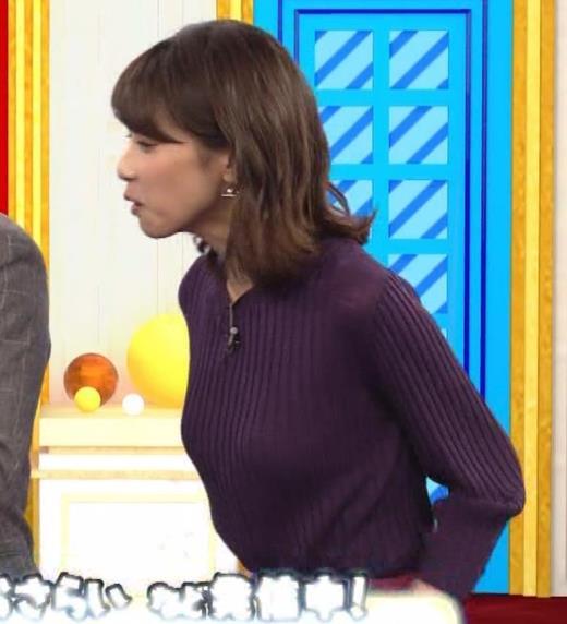 加藤綾子 小走り乳揺れGIF動画キャプ画像(エロ・アイコラ画像)