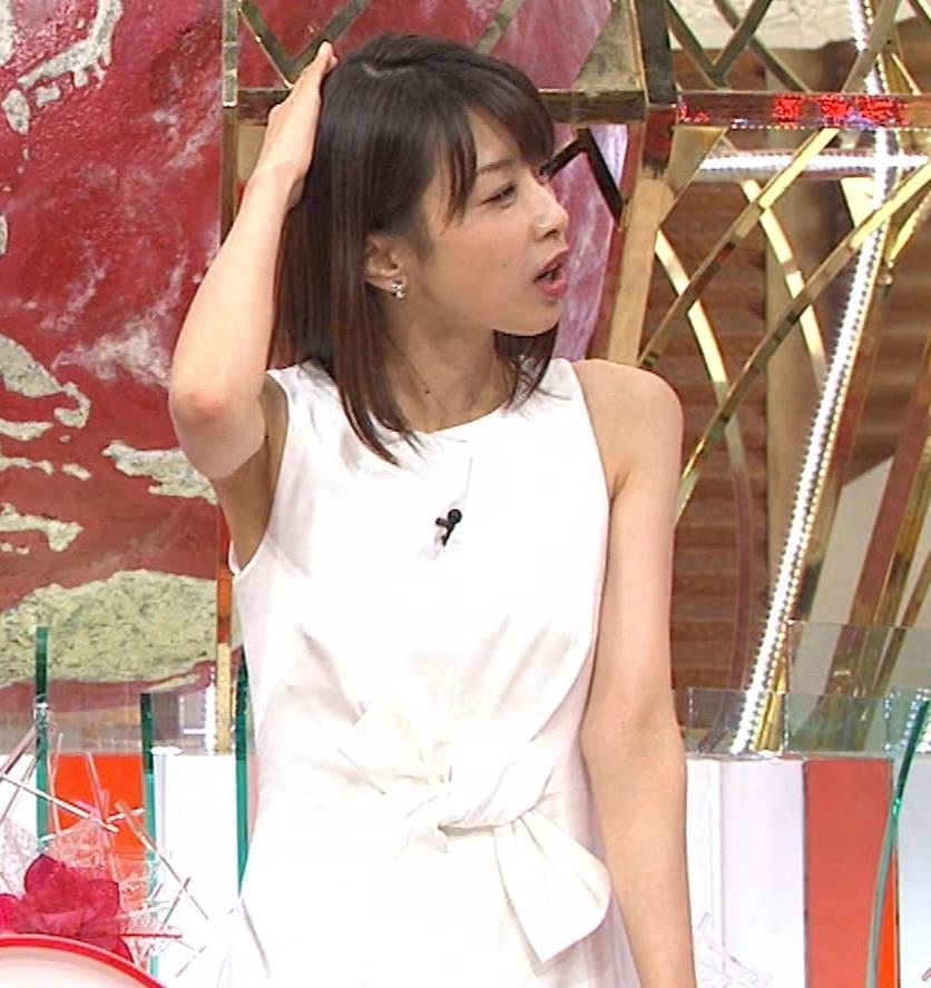 加藤綾子 久しぶりにノースリーブでワキがチラチラキャプ・エロ画像17