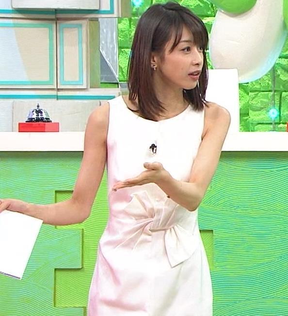 加藤綾子 久しぶりにノースリーブでワキがチラチラキャプ・エロ画像5