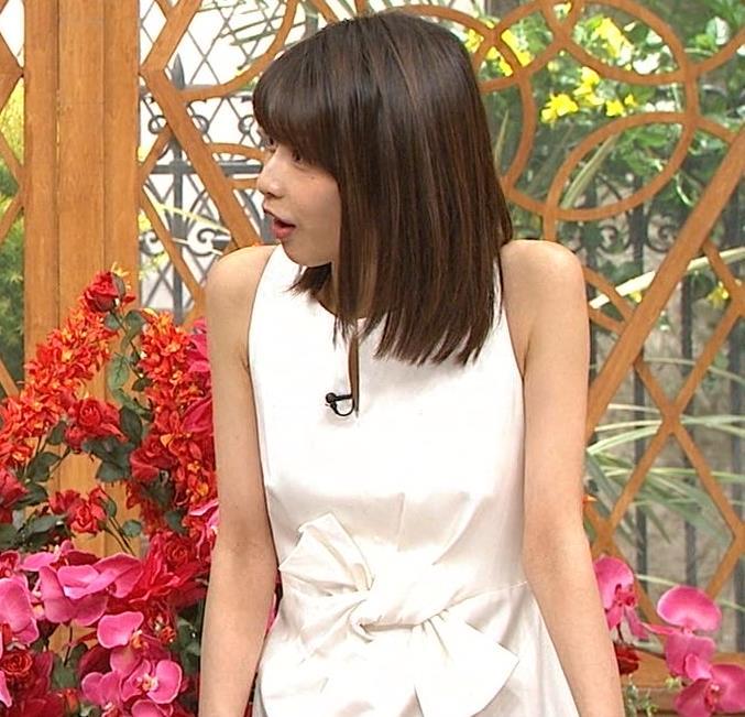 加藤綾子 久しぶりにノースリーブでワキがチラチラキャプ・エロ画像9