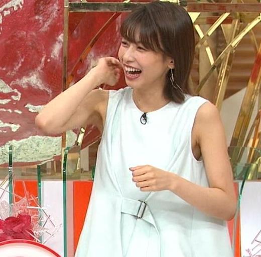 加藤綾子 ワキがエロいノースリーブキャプ画像(エロ・アイコラ画像)