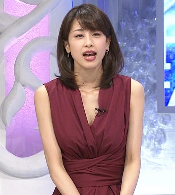 加藤綾子 「MUSIC FAIR」では胸元が開いている衣装が多いキャプ・エロ画像7