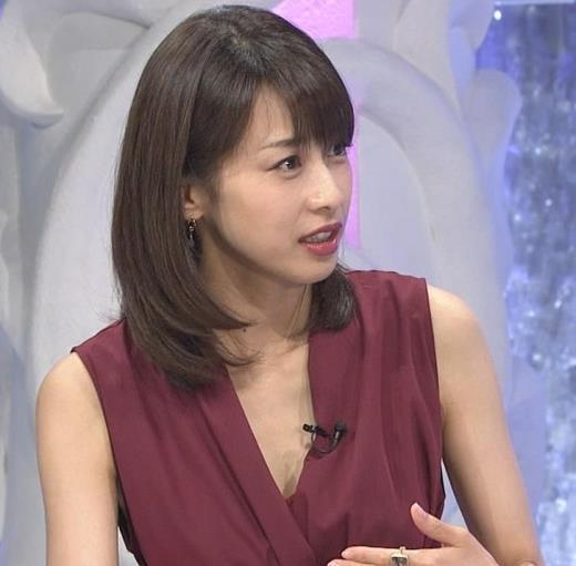 加藤綾子 「MUSIC FAIR」では胸元が開いている衣装が多いキャプ画像(エロ・アイコラ画像)