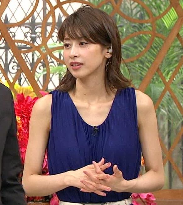 加藤綾子アナ 肌の露出が多いノースリーブキャプ・エロ画像4